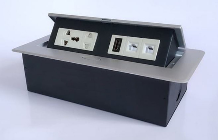 Độ bền ổ cắm điện âm bàn đảm bảo chất lượng