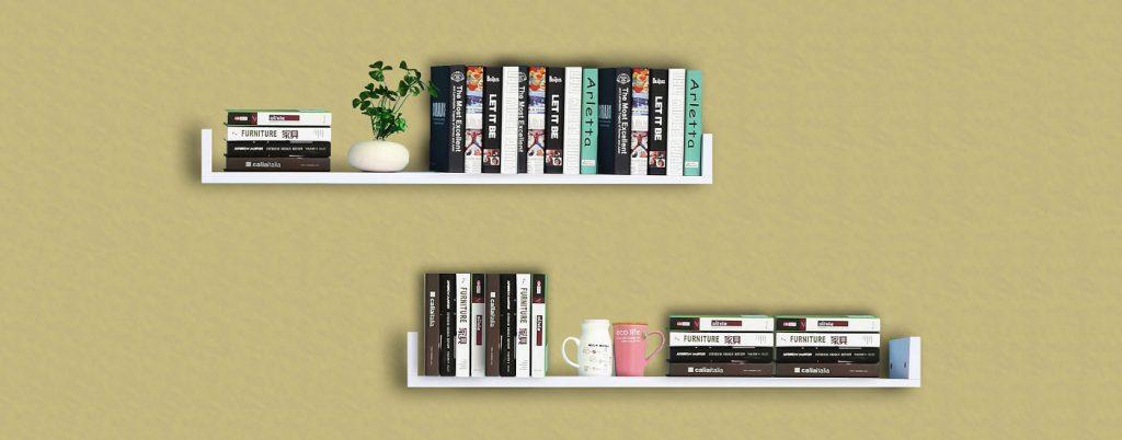 30+ Mẫu kệ sách gỗ treo tường thiết kế đẹp